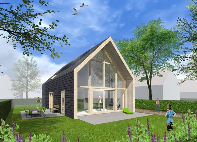Oosterwold nieuwbouw project met gietvloer