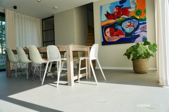 Een betonvloer in een vrijstaande woning op IJburg