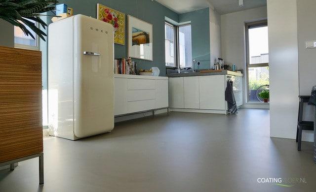 Gietvloer in een woning in IJburg