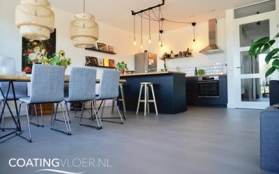 Betonvloer in een appartement in Amsterdam
