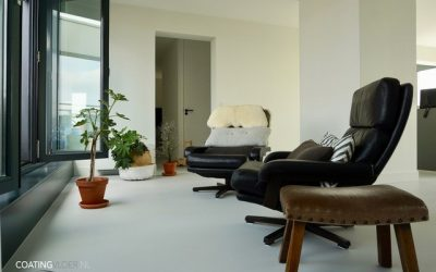 Gietvloer in een appartement in Zaandam