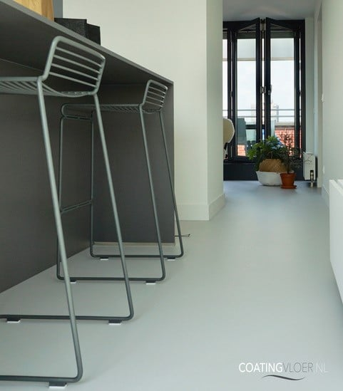 Gietvloer in een appartement