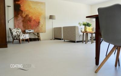 Een gietvloer in een appartement in Haarlem