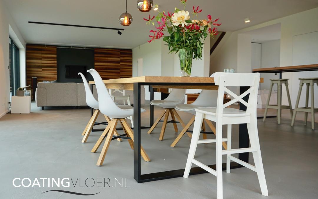 Een betonvloer in een vrijstaande woning in Amstelveen