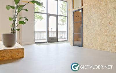 Een Design Betonvloer in een bedrijfspand in Amsterdam