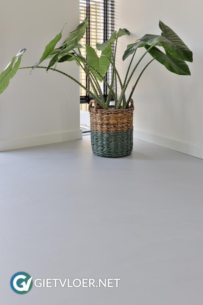 Een betonlook gietvloer in een woning in Cothen