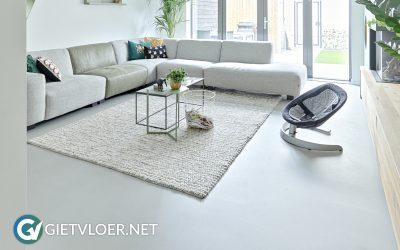 Design Betonvloer ECO in een nieuwbouwwoning in Hillegom