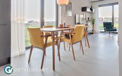 Design betonvloer ECO Perfect Grey in woning Almere